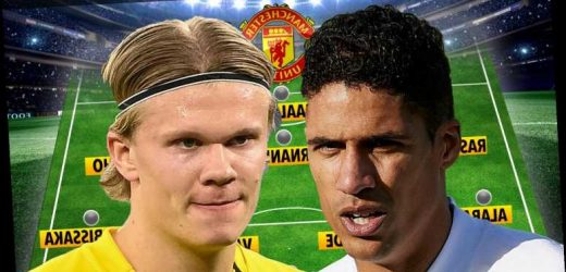How Man Utd could line up with Erling Haaland, Jadon Sancho and Varane if they land five ambitious transfer targets