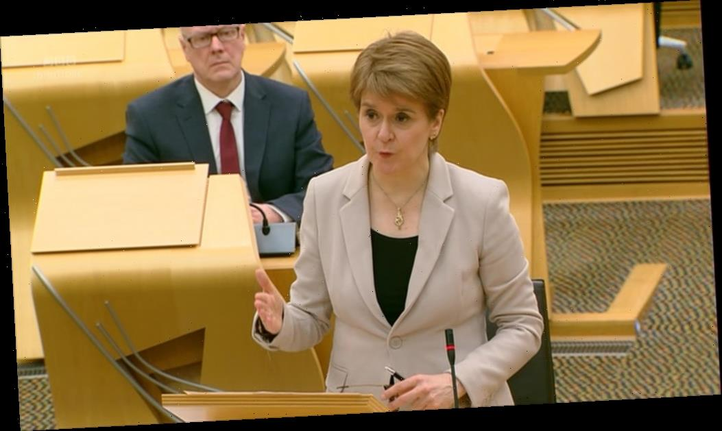 Nicola Sturgeon announces primary schools will return from February 22 in Scotland – two weeks before England