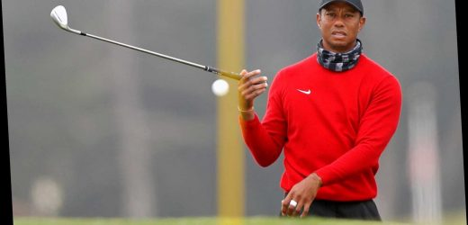 What injuries did Tiger Woods suffer in the car accident today?
