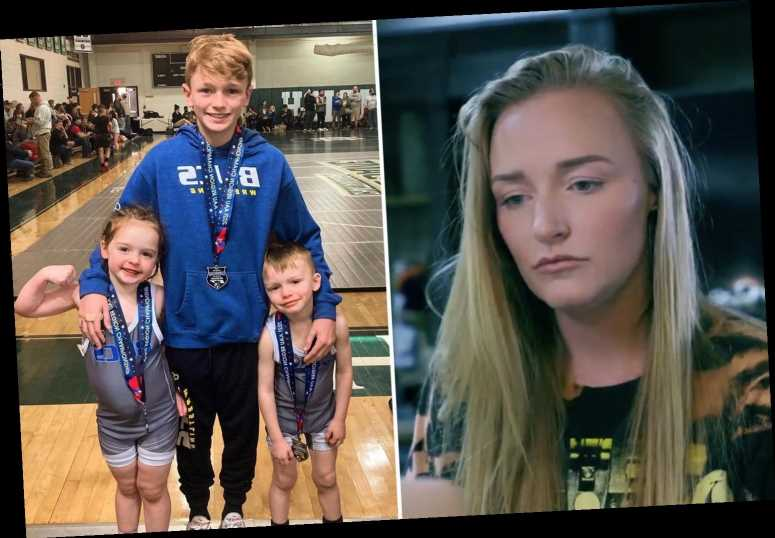 Teen Mom Maci Bookout praises son Bentley, 12, at wrestling tournament as she feuds with ex Ryan Edwards' wife Mackenzie