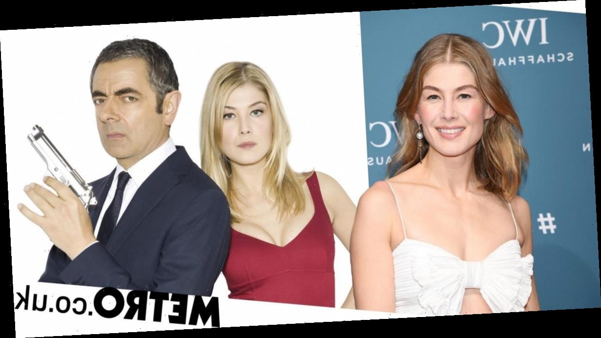 Rosamund Pike calls out movie poster for 'augmenting' her breasts