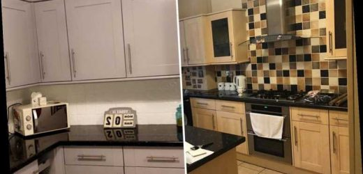 Mum transforms her kitchen for just £46 by painting tiles and worktop – and months later there's not a scratch on it