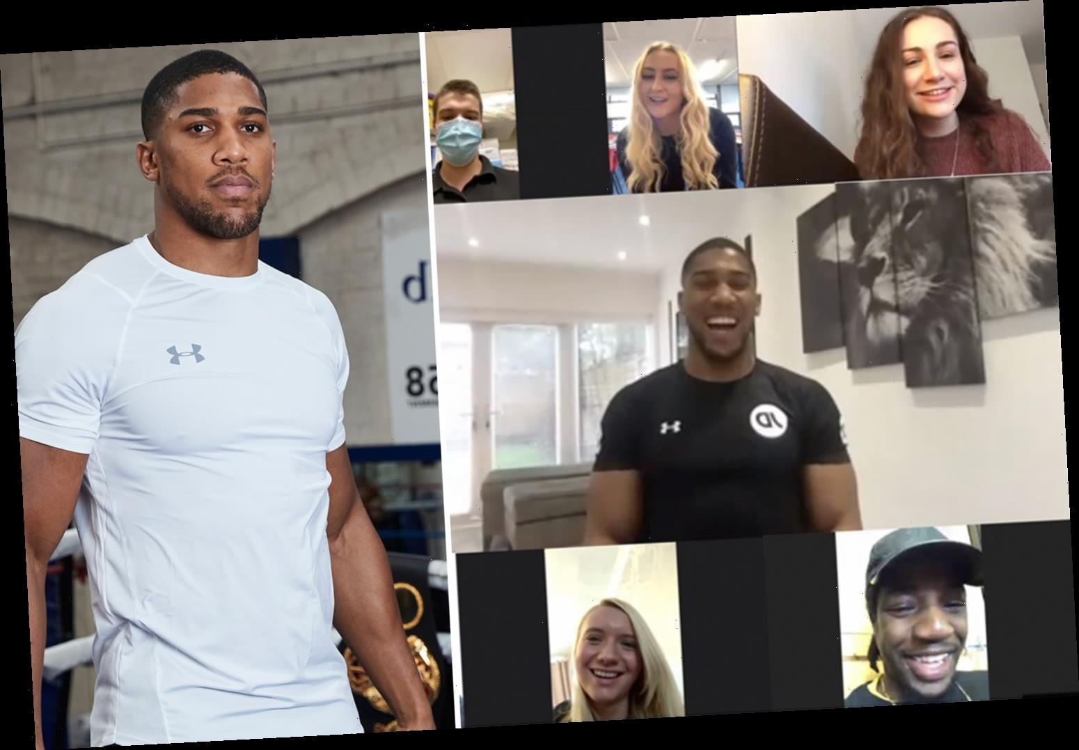 Anthony Joshua continues to show caring side as he honours public who made difference in 2020 through Covid-19 pandemic