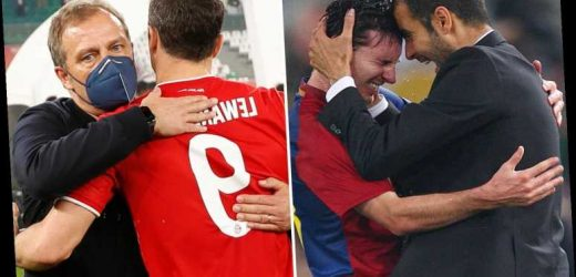 Bayern 2021 vs Barcelona 2009: Guardiola offers to get Messi and gang back together for sextuple clash vs Flick's Munich