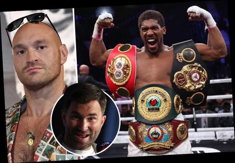Tyson Fury's boxing record is 'laughable' compared to Anthony Joshua's, slams Eddie Hearn ahead of proposed title fight