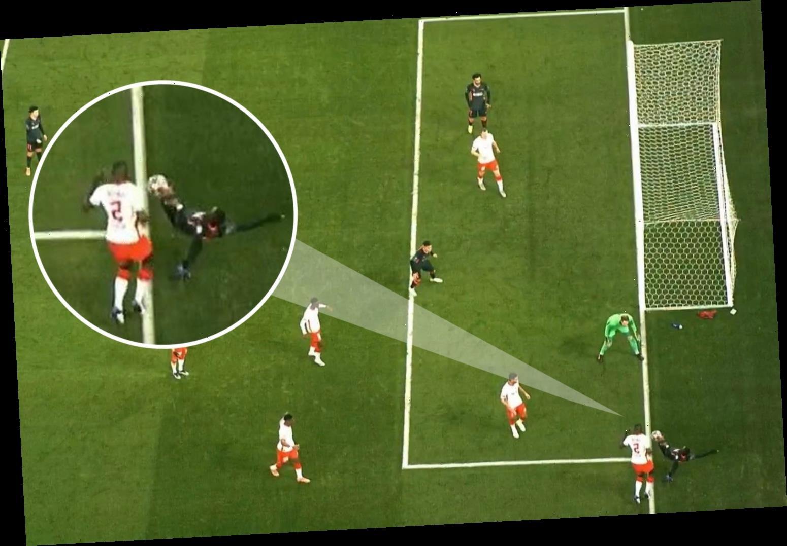 Liverpool denied opener against RB Leipzig as linesman rules ball went out of play before Sadio Mane cross