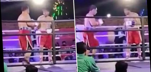 Boxer Muhammad Aslam Khan dies aged 27 after collapsing in ring during charity bout following brutal KO