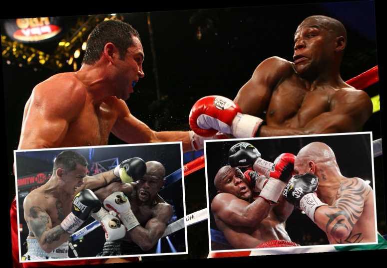 Floyd Mayweather's five toughest fights – from Oscar De La Hoya split-decision to Marcos Maidana's roughhousing