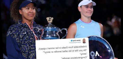 Twitter users adamant Naomi Osaka trolled Jennifer Brady after beating her in Australian Open final