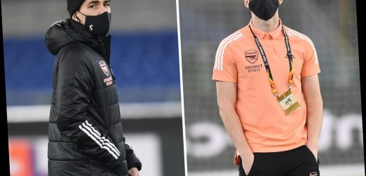 Kieran Tierney continues cult hero status at Arsenal as he wears short-sleeved T-shirt while others wrapped up in Rome