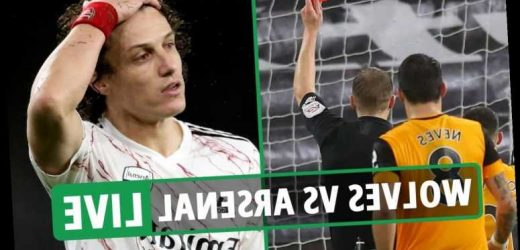 Wolves 2 Arsenal 1 LIVE REACTION: Leno and Luiz BOTH sent off in Gunners horror show as hosts fight back for crucial win