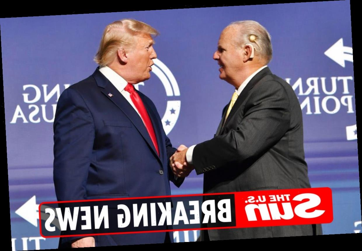 Rush Limbaugh dead: Donald Trump leads tributes to 'brave' radio host and says they last spoke a few days ago