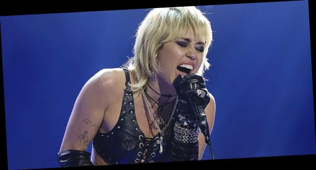 Miley Cyrus Got Choked Up Singing 'Wrecking Ball' During Her Super Bowl Pregame Performance