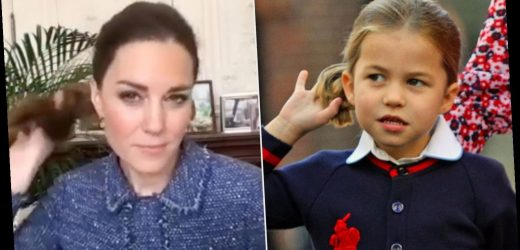 Princess Charlotte Picked Up This Adorable Hair Habit from Mom Kate Middleton!