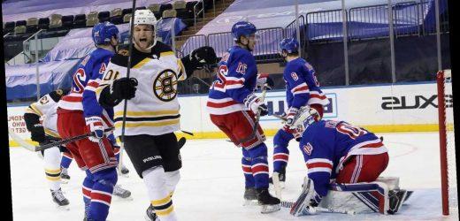 Rangers fall in overtime vs.  division-leading Bruins