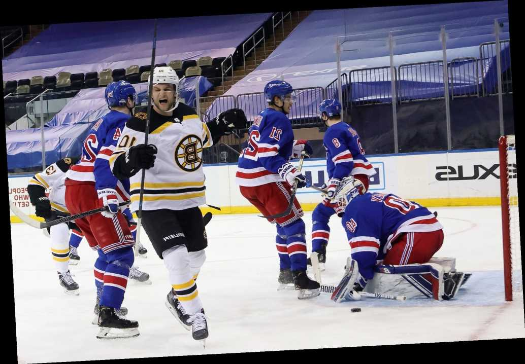 Rangers fall in overtime vs.  division-leading Bruins