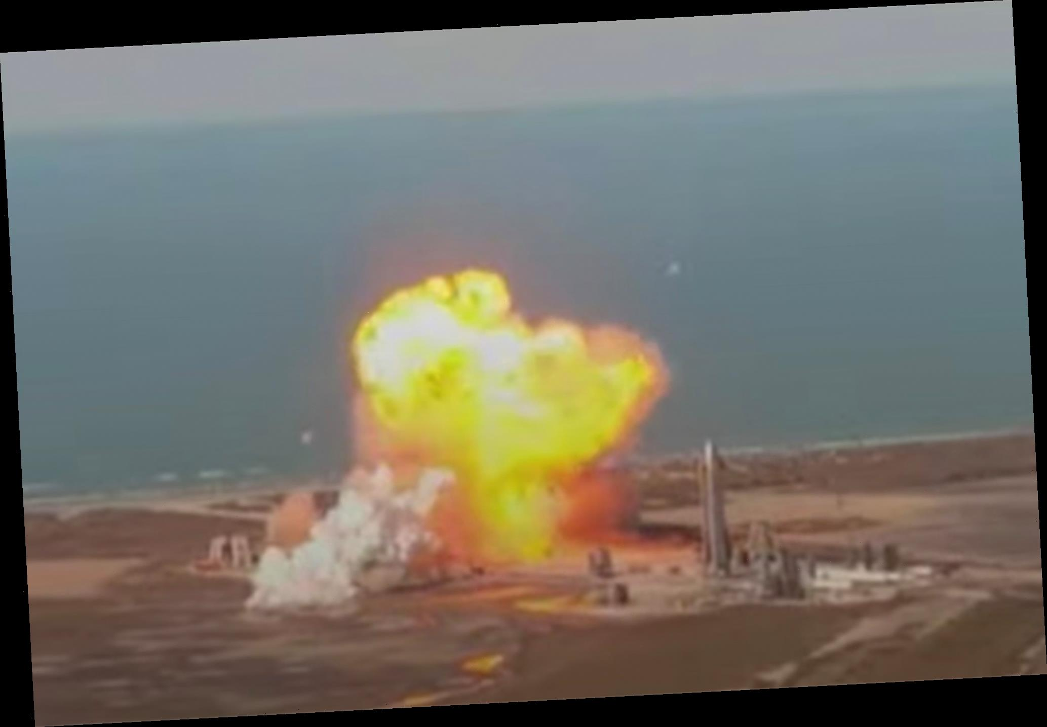 SpaceX Starship explodes in test flight crash landing