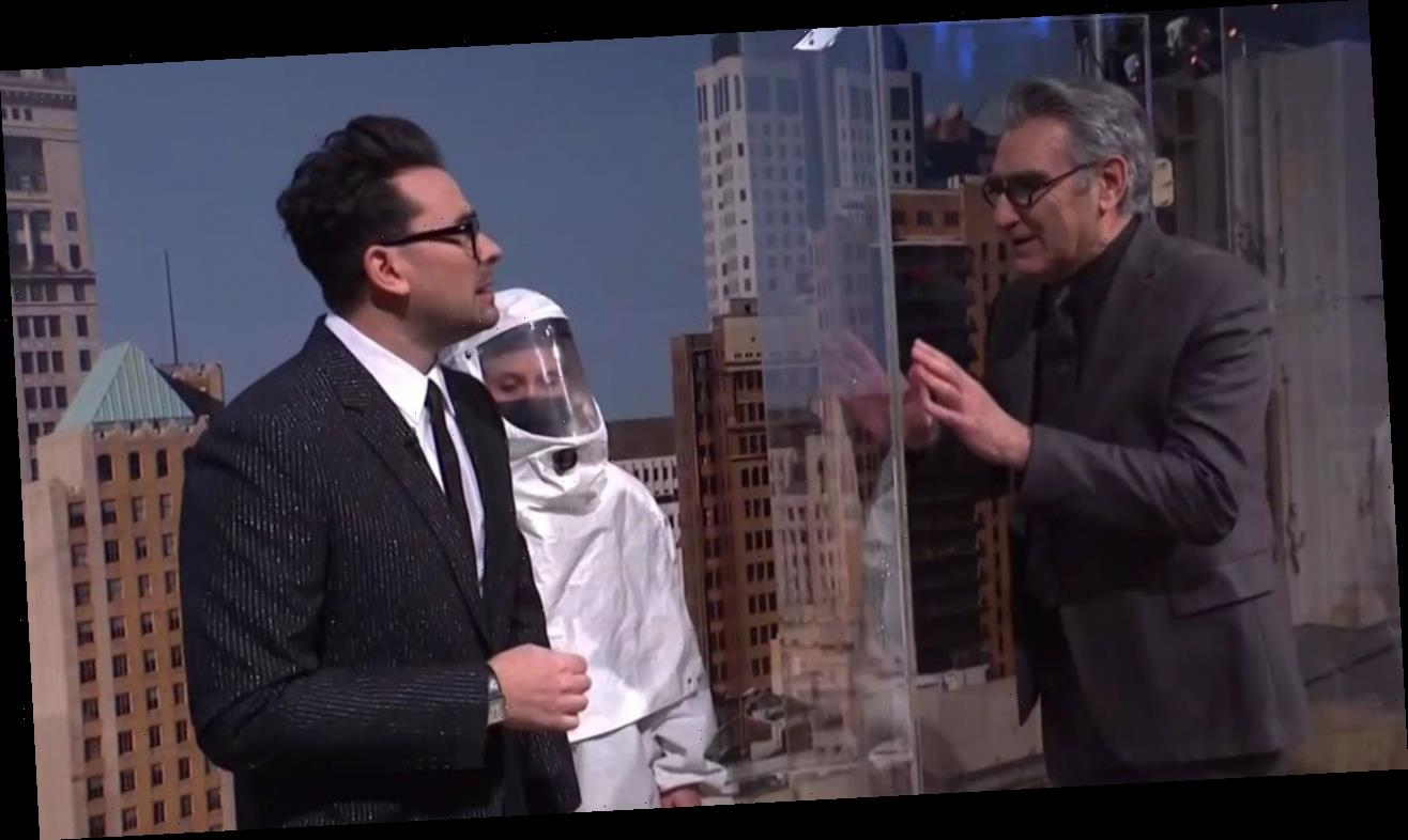 Dan Levy Gets Surprise Support From Dad Eugene Levy in 'SNL' Debut