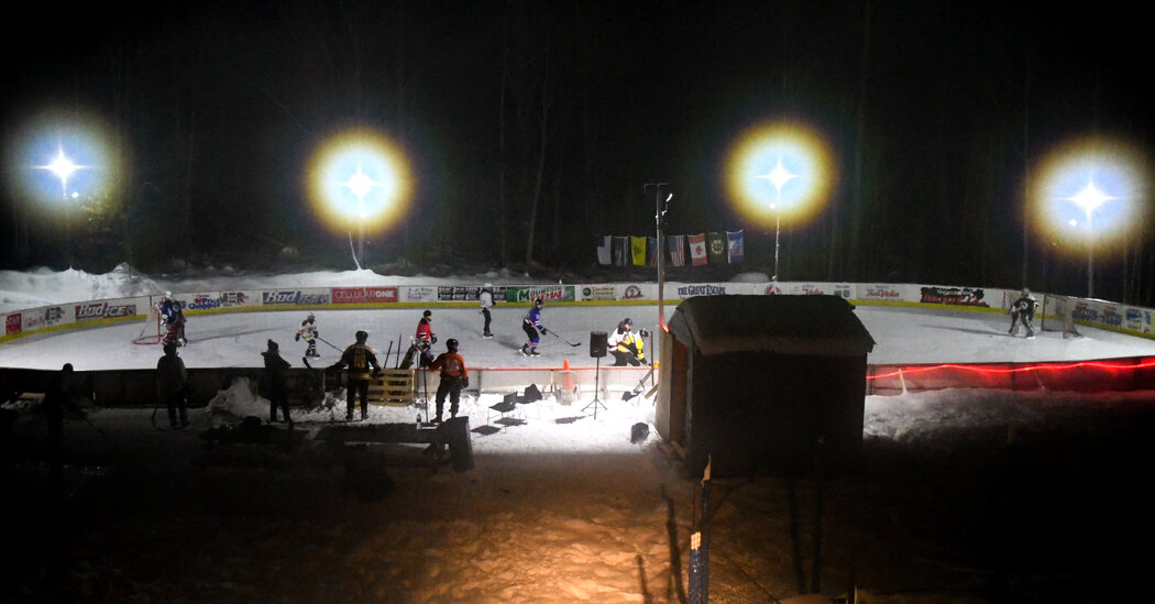 With Indoor Rinks Closed, Players Turn to 'Speakeasy Hockey'