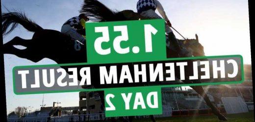 1.55 Cheltenham result – day 2: Who won Novices' Chase 2021? How every horse finished