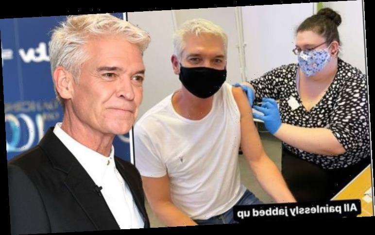 Phillip Schofield, 58, receives Covid vaccine as he praises NHS for 'painless' experience
