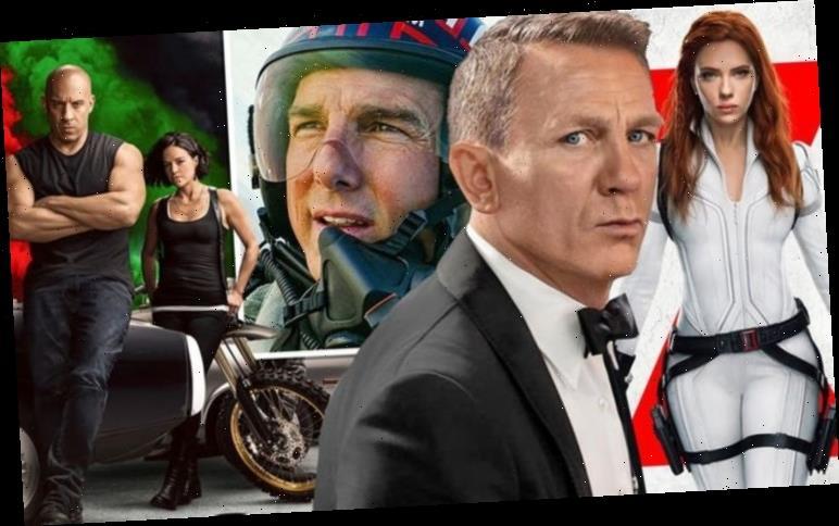 UK film release dates 2021: Black Widow, Bond, Fast & Furious 9, Top Gun