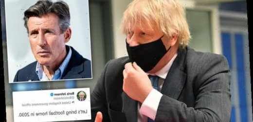 Boris Johnson rebuked by Lord Coe for using 'very tired mantra'