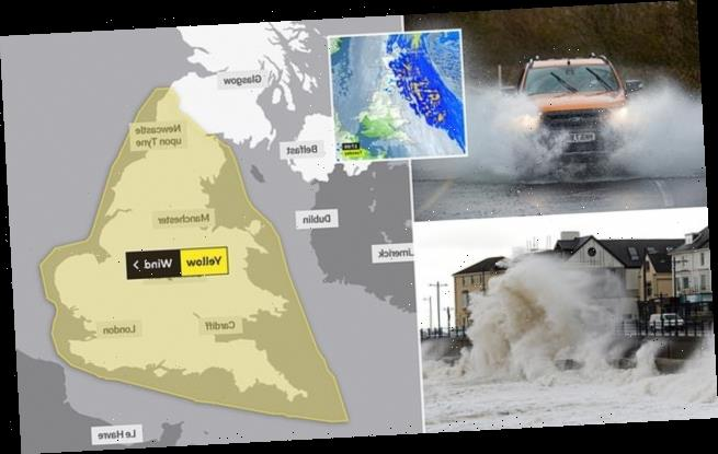 Britain braces for 75mph gales and torrential rain weather this week