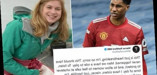 Rashford urges men to 'listen and protect' women after Everard death