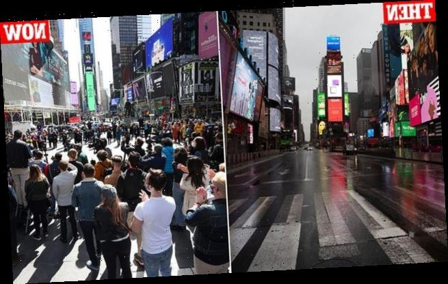 Big Apple bounces back: Before and after photos show life returning