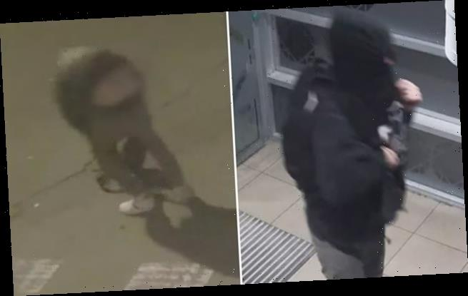 Thief caught on CCTV flashing bare backside as he ran from the scene