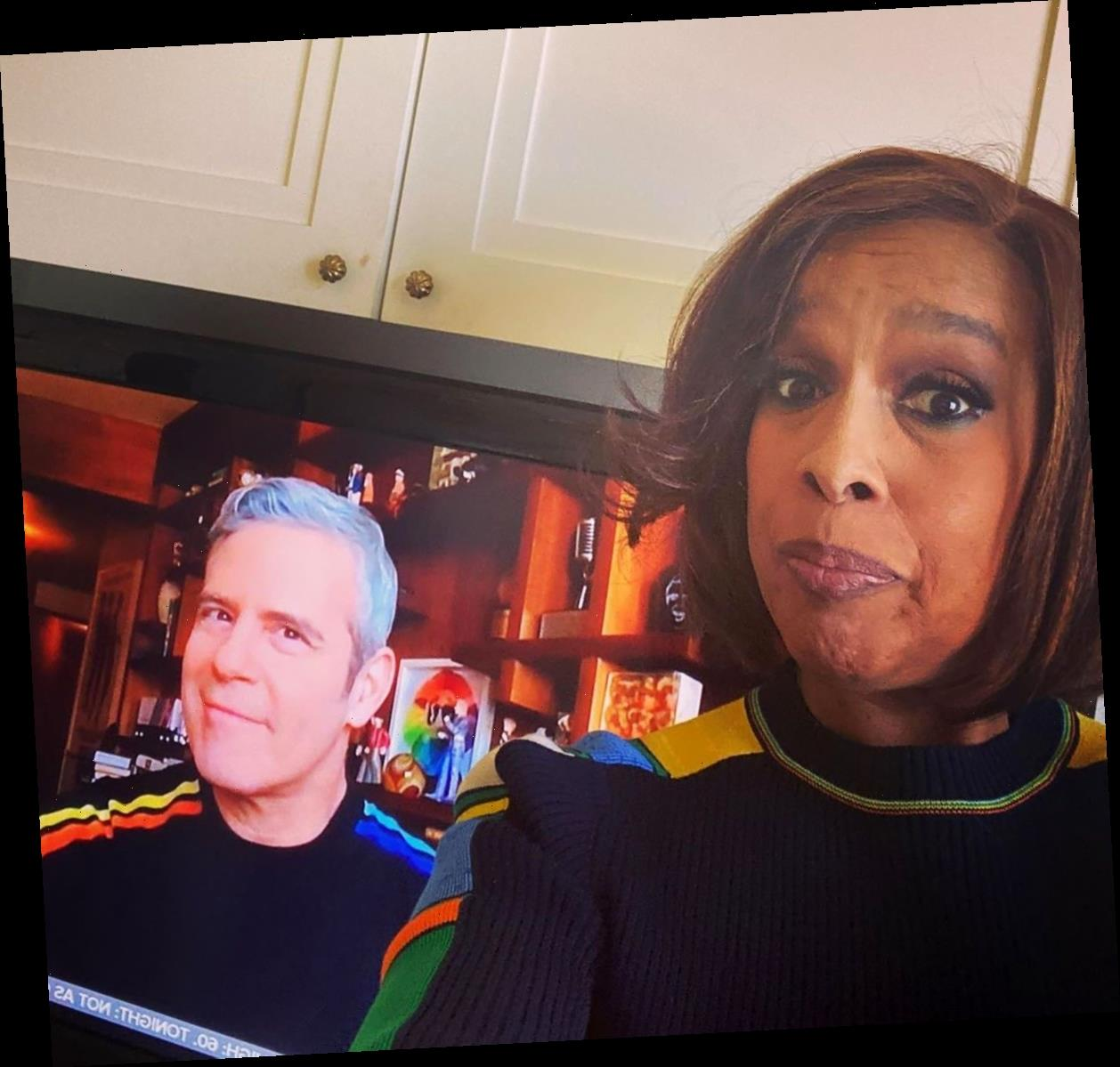 LOL! Andy Cohen and Gayle King Are 'Twinsies' in Matching Sweaters
