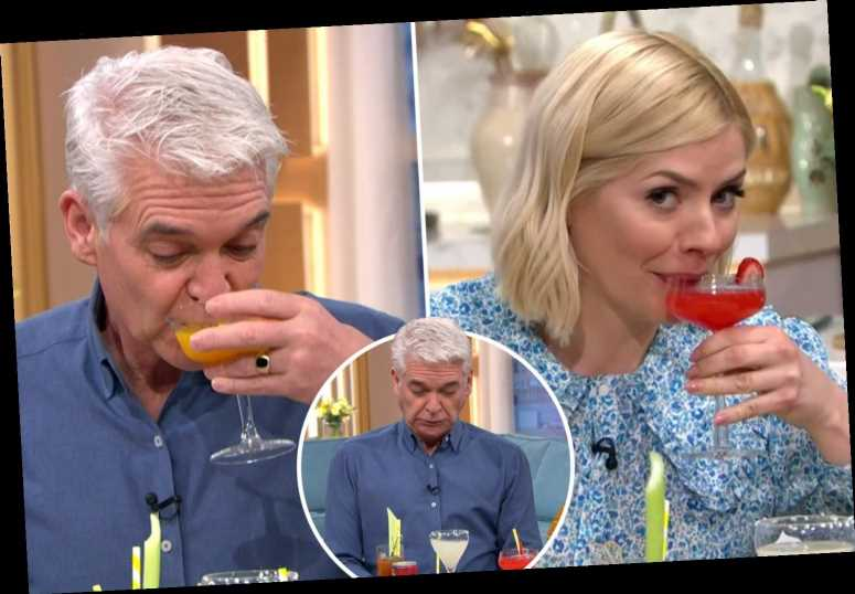 Tipsy Holly Willoughby and Phillip Schofield down cocktails live on This Morning