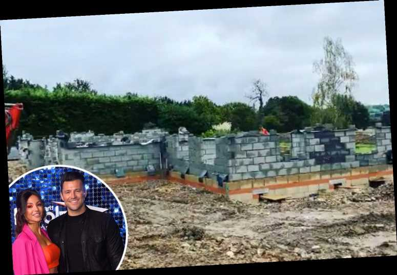 Mark Wright and Michelle Keegan's home 'takes shape' as stars lay the brickwork of their dream £1.3m Essex mansion