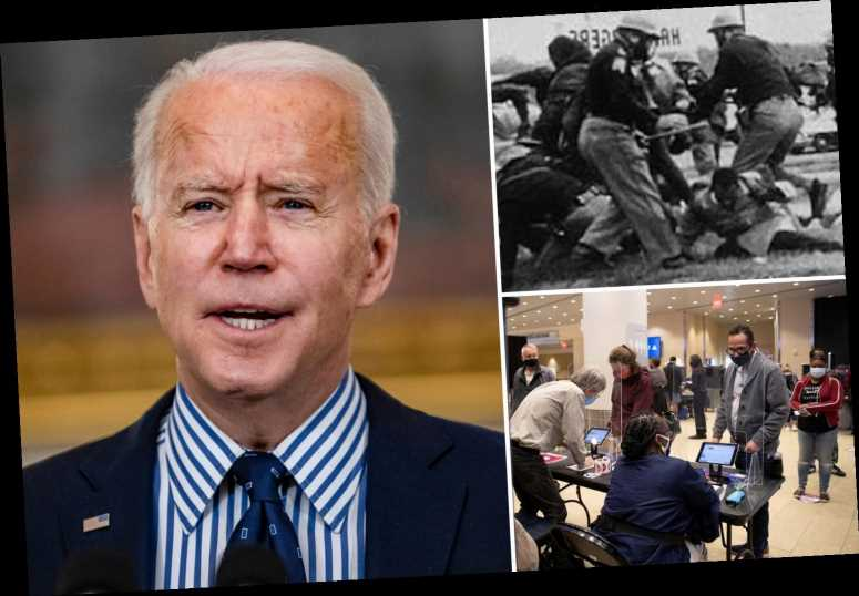 Joe Biden marks 'Bloody Sunday' by signing executive order expanding voting access rights