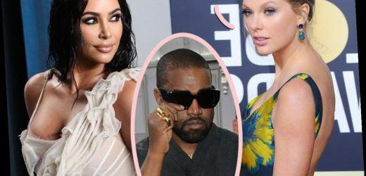Kim Kardashian Caught Listening To Taylor Swift After Kanye Divorce!