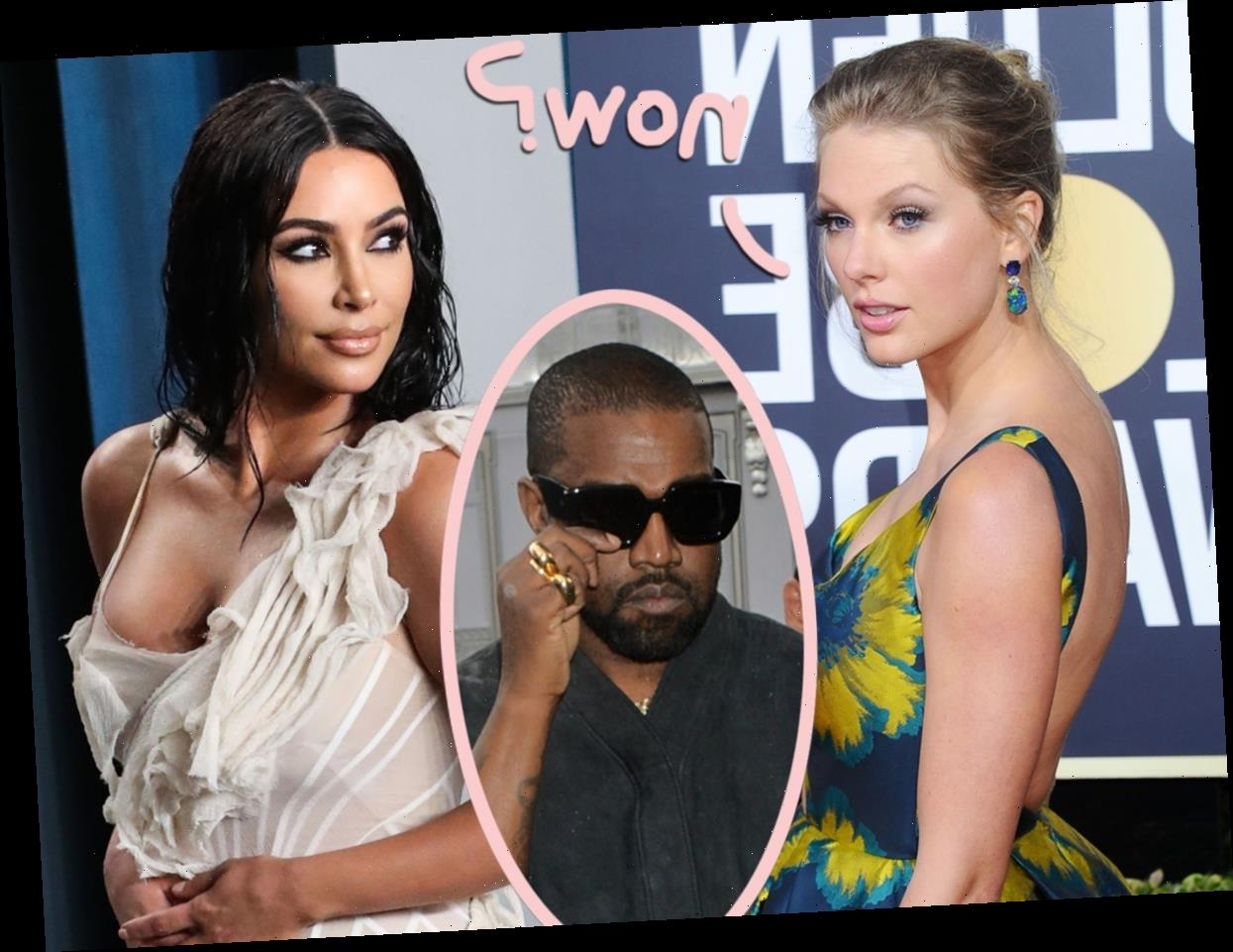 Kim Kardashian Caught Listening To Taylor Swift After Kanye Divorce!