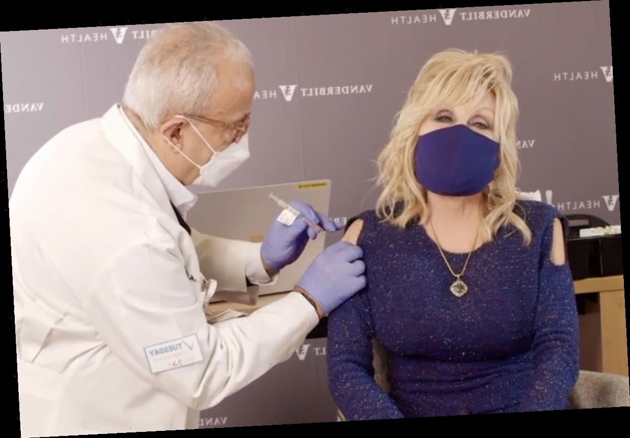 Dolly Parton receives Covid-19 vaccine and encourages others to get it as she says 'don't be such a chicken!'
