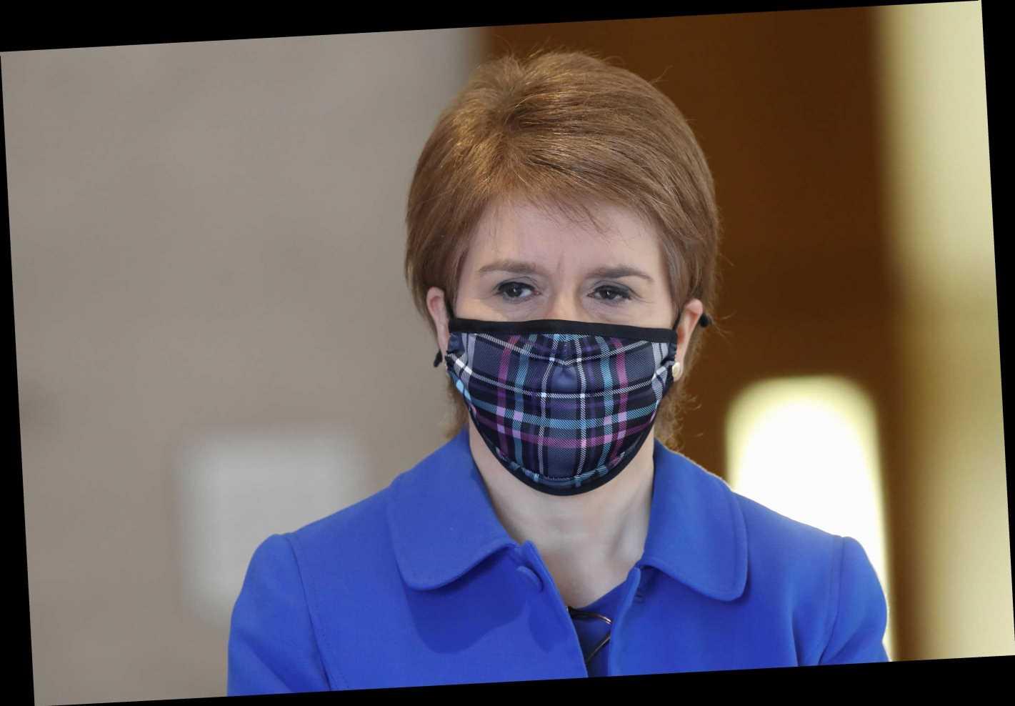 Scotland gets hair cuts, travel & big weddings BEFORE England as Sturgeon brings forward road map piling pressure on PM