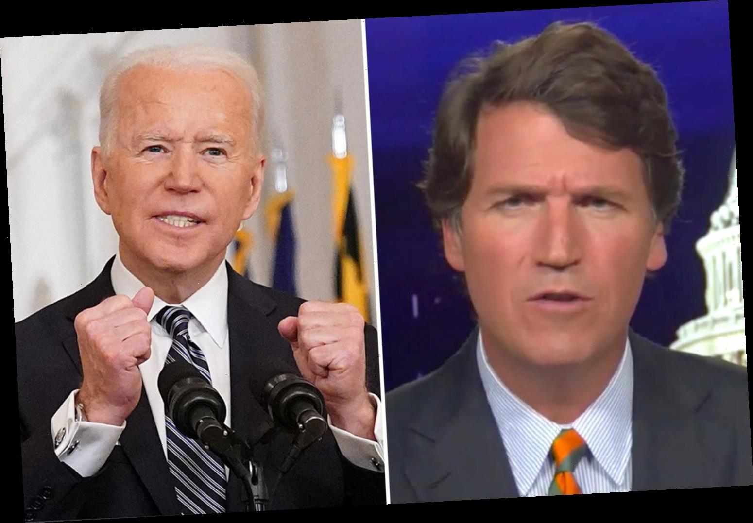 Tucker Carlson slams Biden's plan for 'normal' July 4th and says 'how dare you tell us who we can spend holidays with'