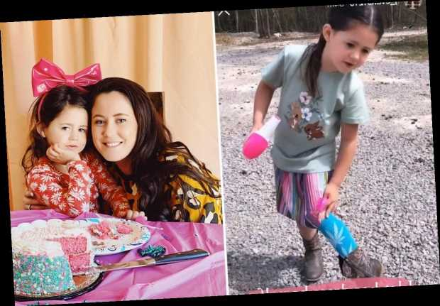 Teen Mom Jenelle Evans slammed for allowing daughter Ensley, 4, to wear socks with 'pot leaves' on them