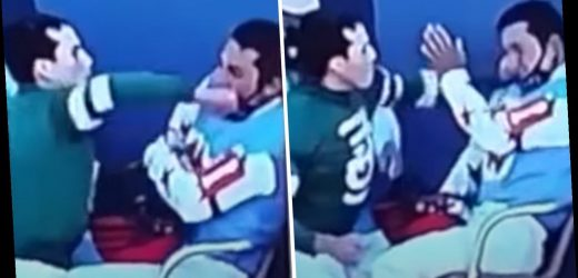 Watch jockey PUNCH rival in the face THREE times in astonishing post-race bust-up that lands Irad Ortiz Jr £700 fine