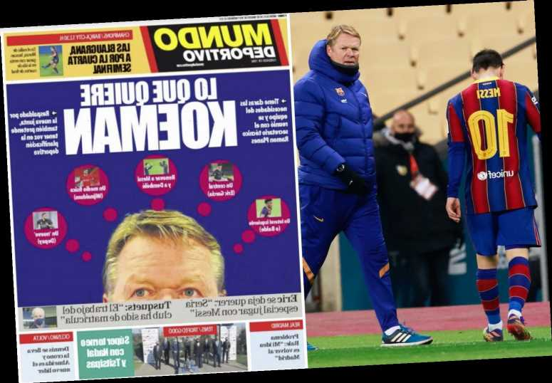 Ronald Koeman to STAY at Barcelona next season with five-point plan to sort including Messi new deal and Depay transfer