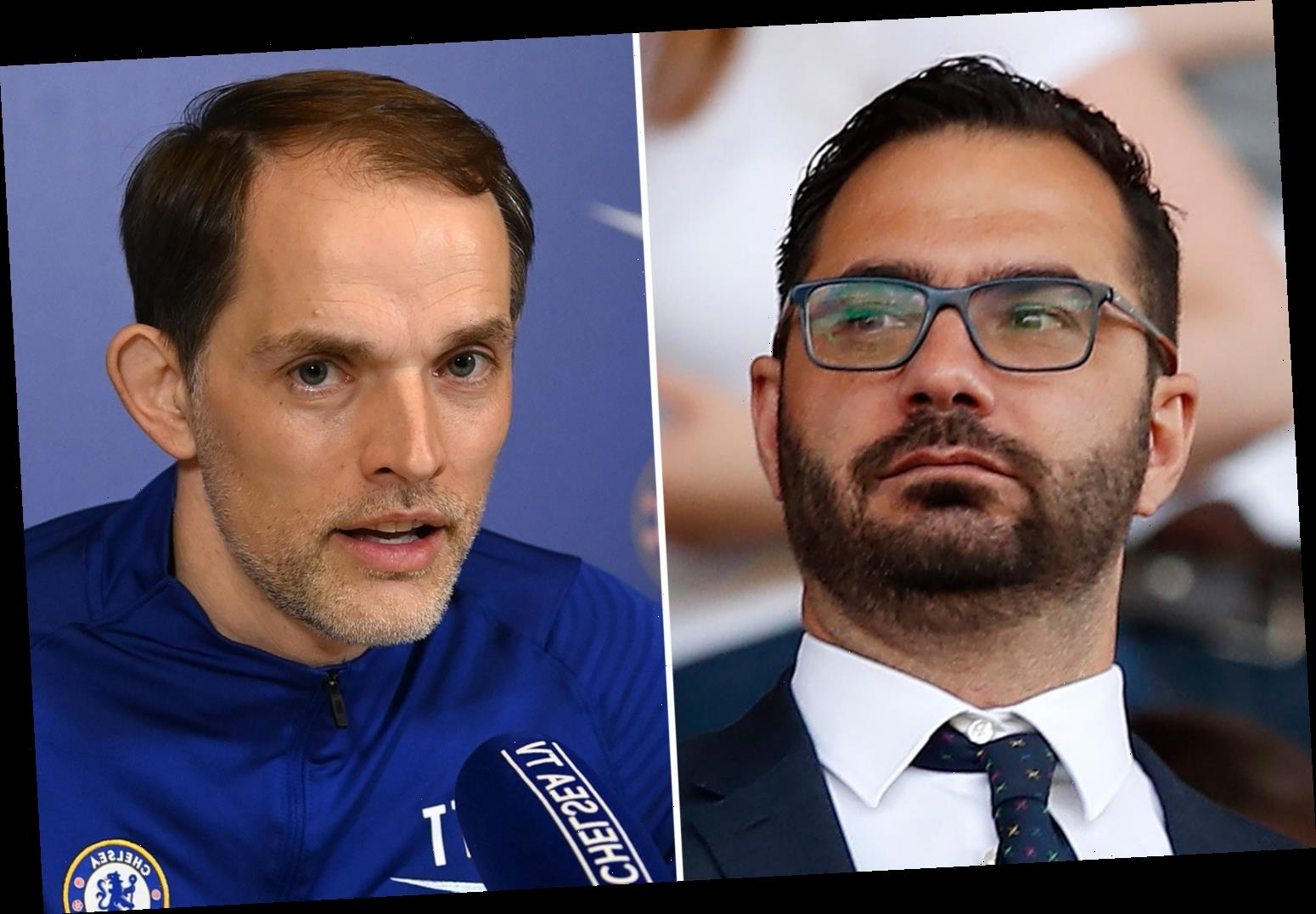 Leeds chief Orta reportedly spotted in heated exchange with Tuchel after Chelsea boss's recent clash with Solskjaer