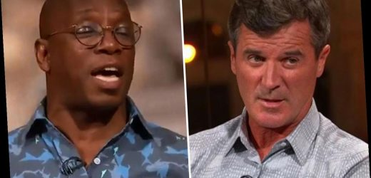 How Roy Keane told Arsenal legend Ian Wright he wasn't Man Utd material after he turned up TWO MINUTES late for lunch – The Sun