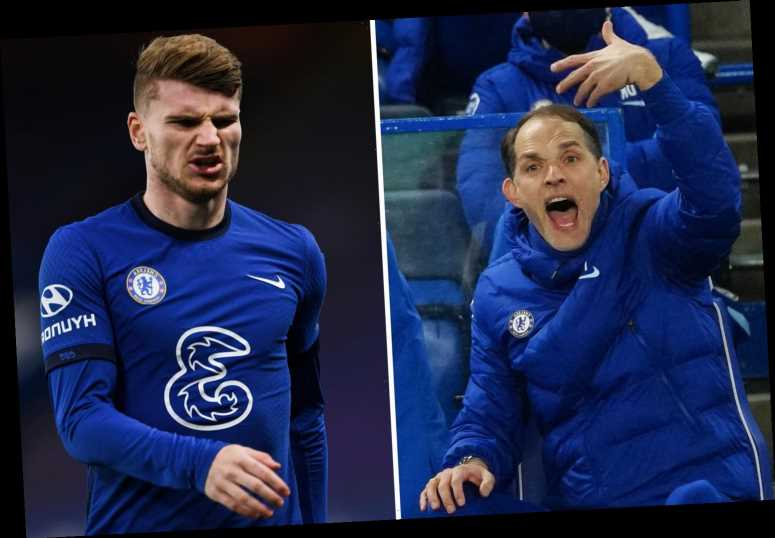 Tuchel overheard berating Timo Werner for playing out of position for 15 MINUTES in Chelsea's win over Everton