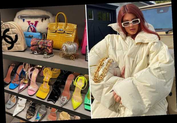 Kylie Jenner slammed for showing off closet featuring Hermes, Chanel & Louis Vuitton shoes & bags while fans struggle