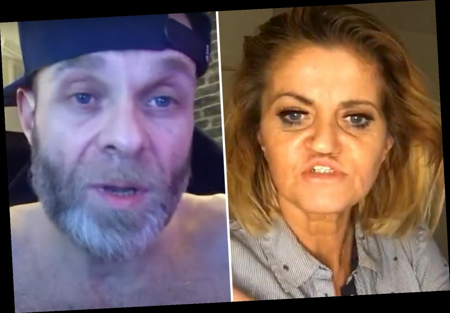 Danniella Westbrook and ex Brian Harvey at war as she brands him a 'paranoid coke freak' and he accuses her of murder