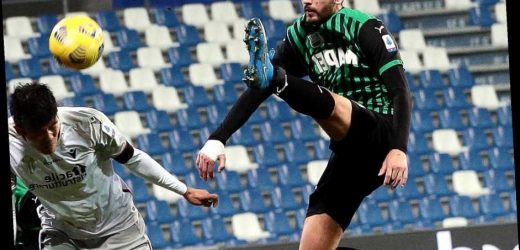 Man City joined by Real Madrid in Manuel Locatelli transfer race with Sassuolo midfielder, 23, starring in Serie A