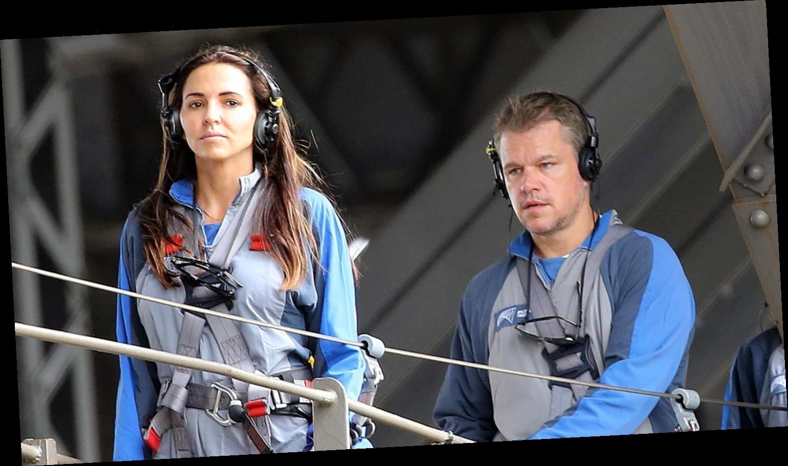Matt Damon & Wife Luciana Climb the Sydney Harbour Bridge with Their Family!